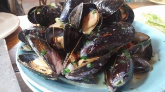 Mussels with Surry Sausage and Leeks